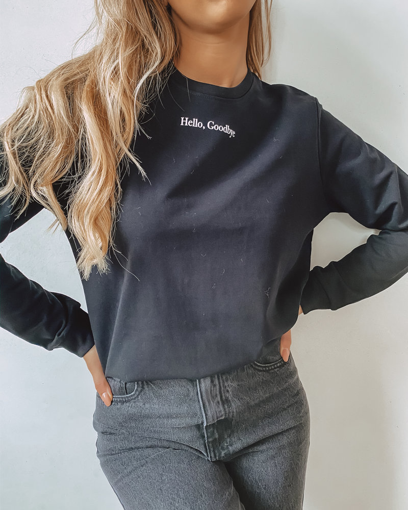 Hello, Goodbye Sweater BLACK