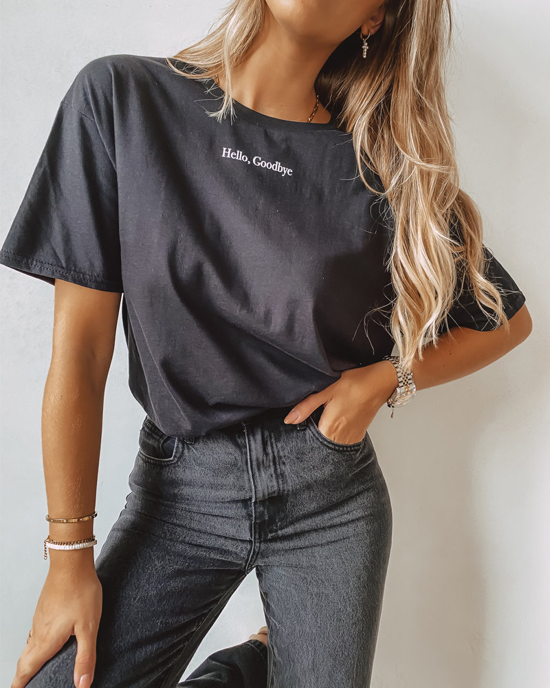 Hello, Goodbye T-Shirt BLACK