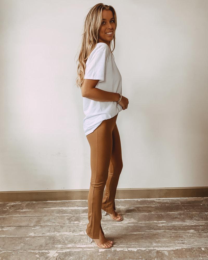 Super Soft split Trouser Camel