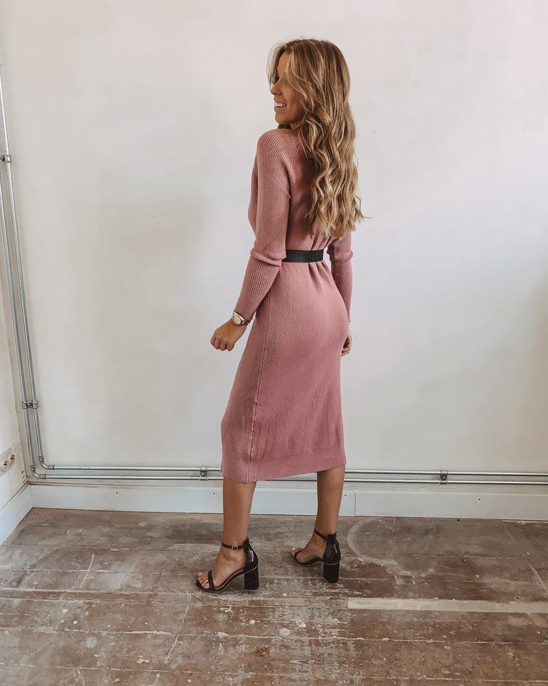 Pink Long Gillet