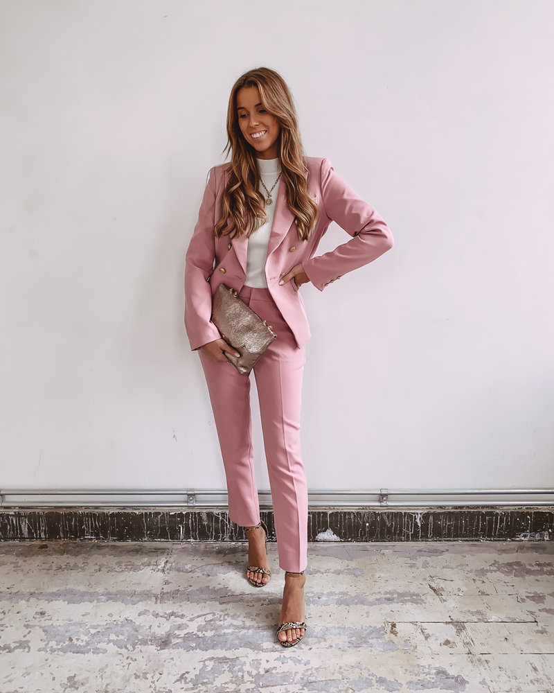 Pink Classic Trouser