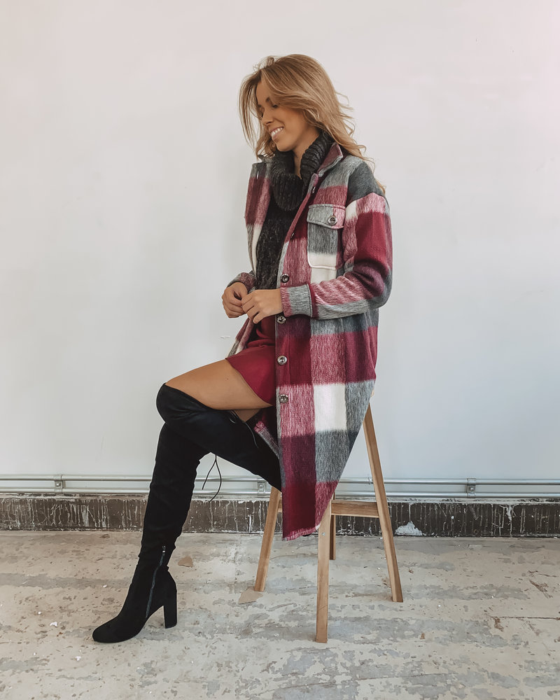 Bordeaux Stretch Skirt