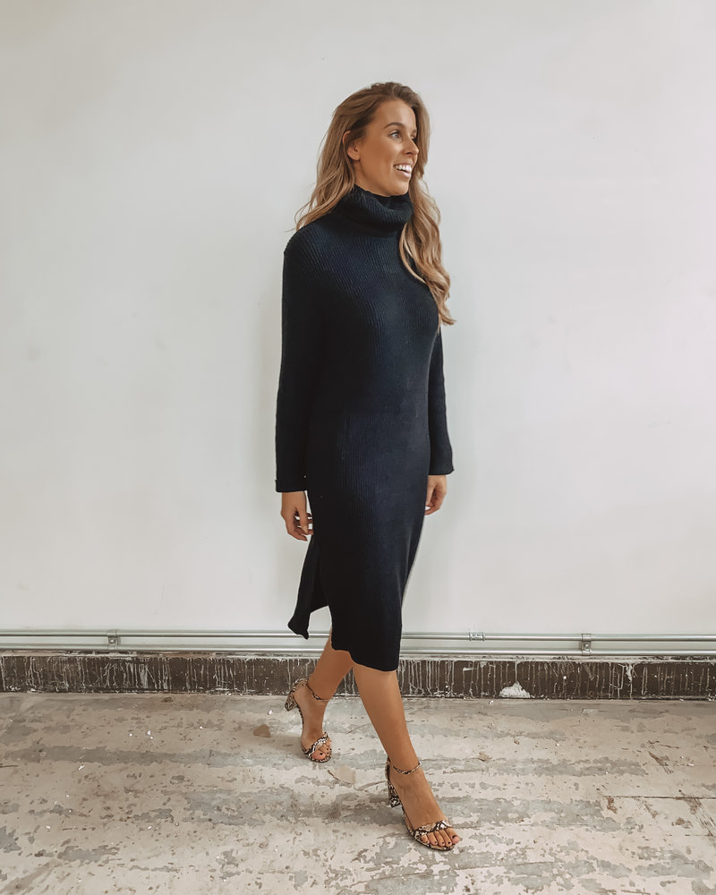 Long Soft Split Dress