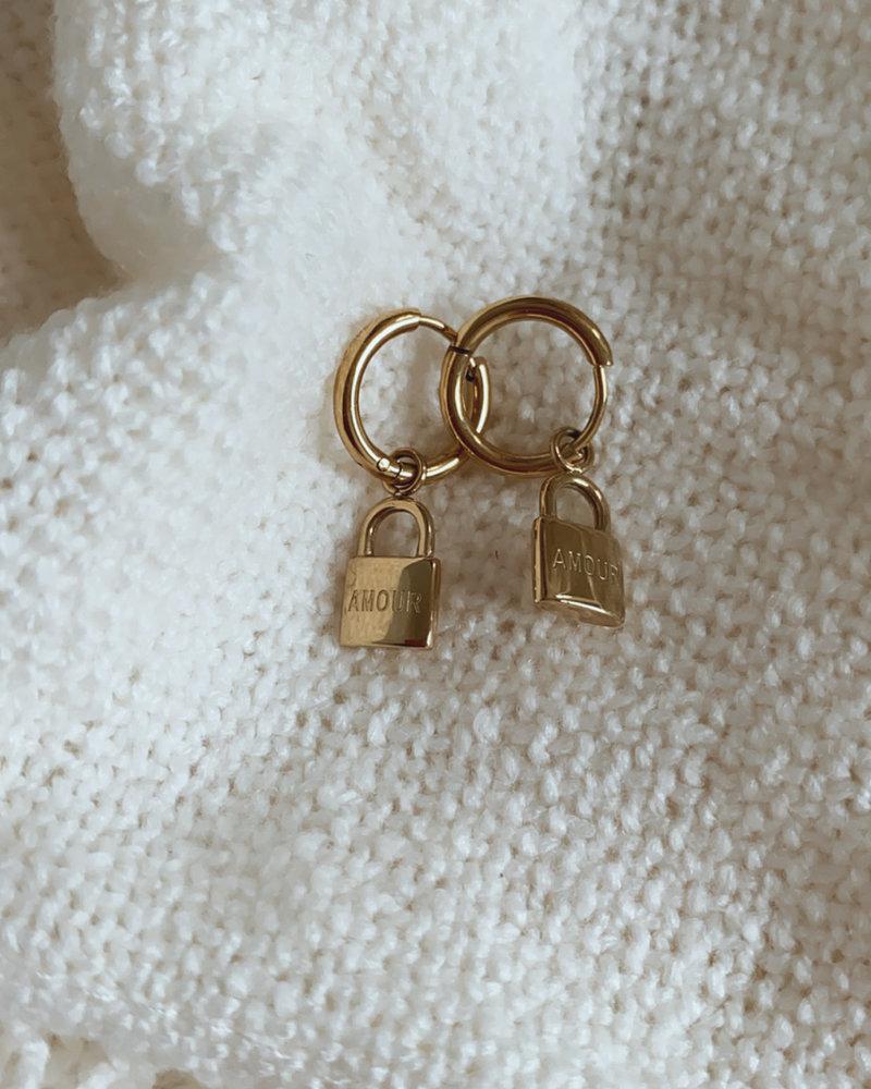 Golden Amour Earring