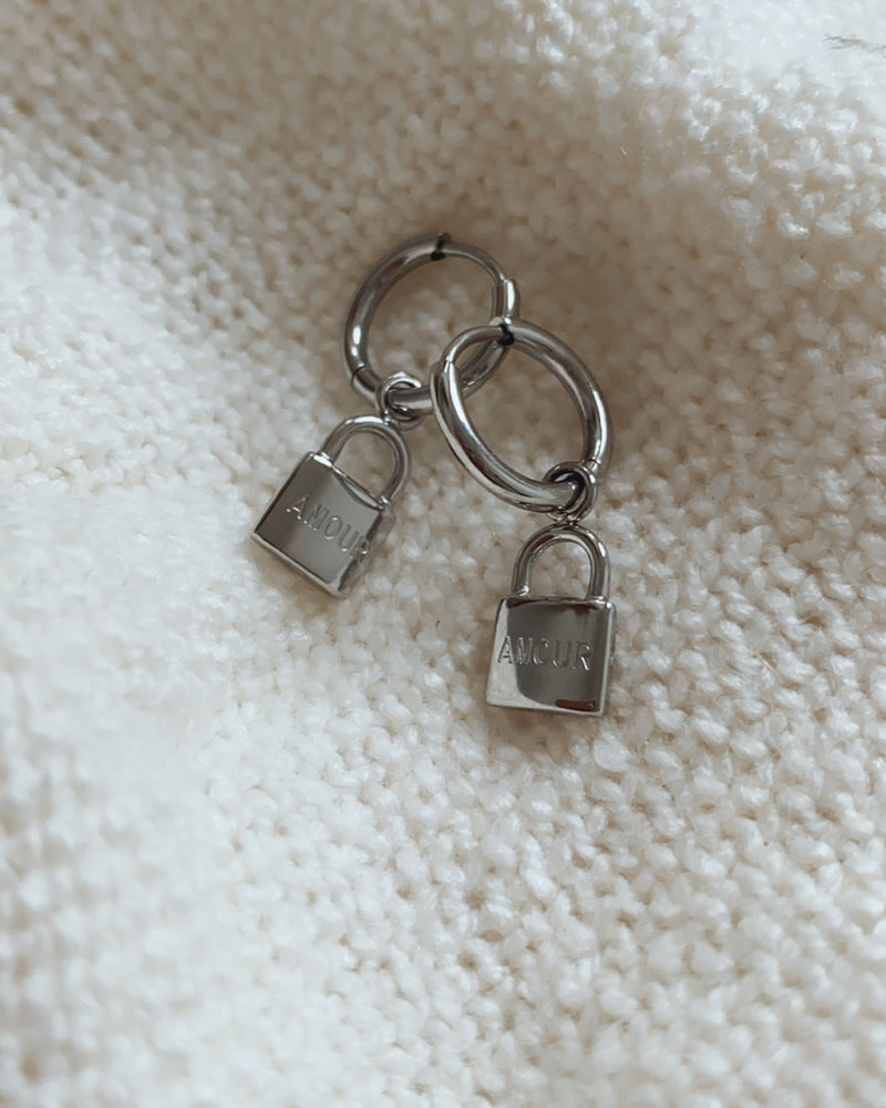 Silver Amour Earring