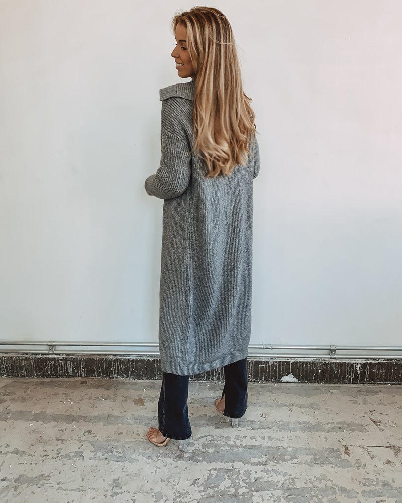 Long Grey Winter Gillet