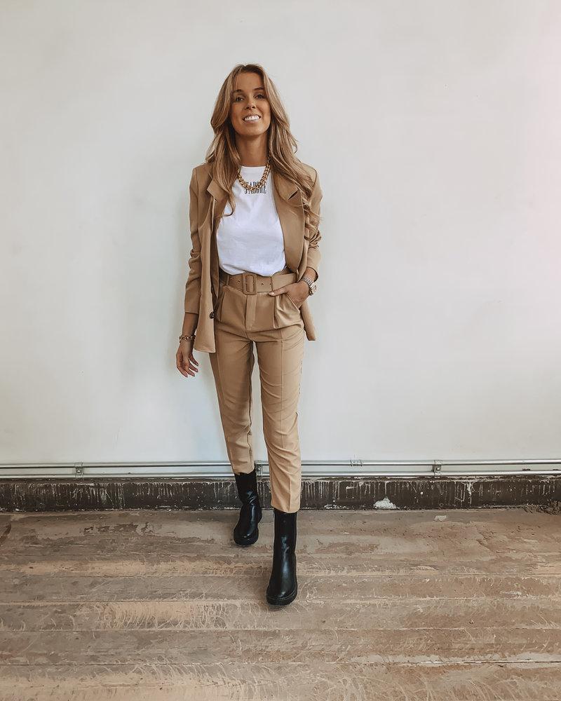 Classic Camel Belt Trouser