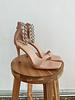 Pink Silver Chian Heels