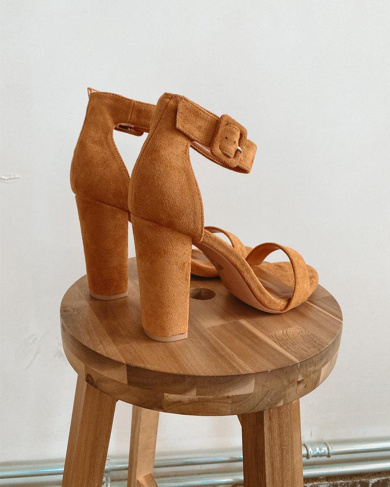 Camel Suede Heels