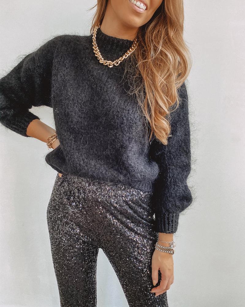 Black Glitter Trouser