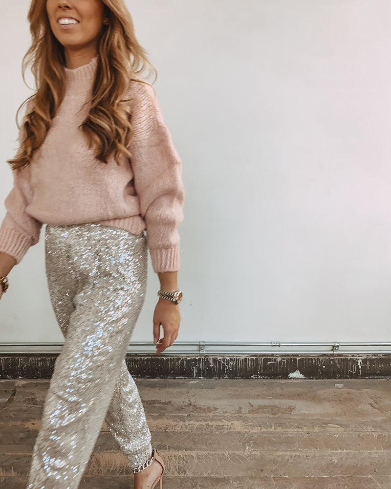 Silver Glitter Trouser