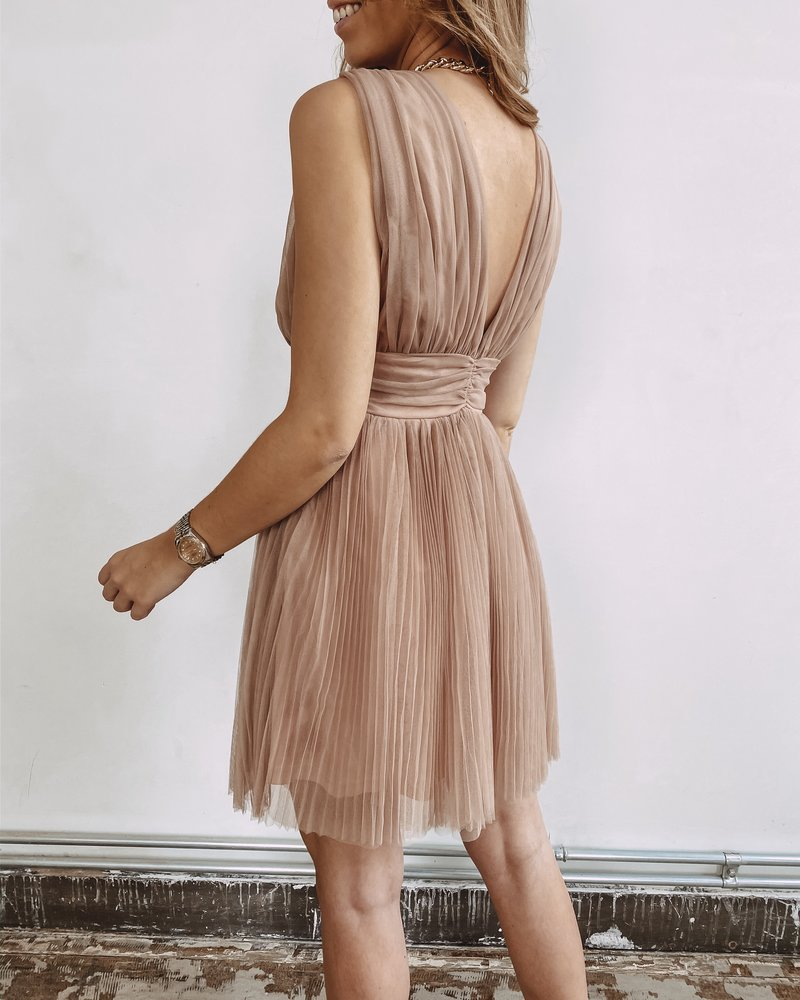 Pink Deep Cut Out Party Dress