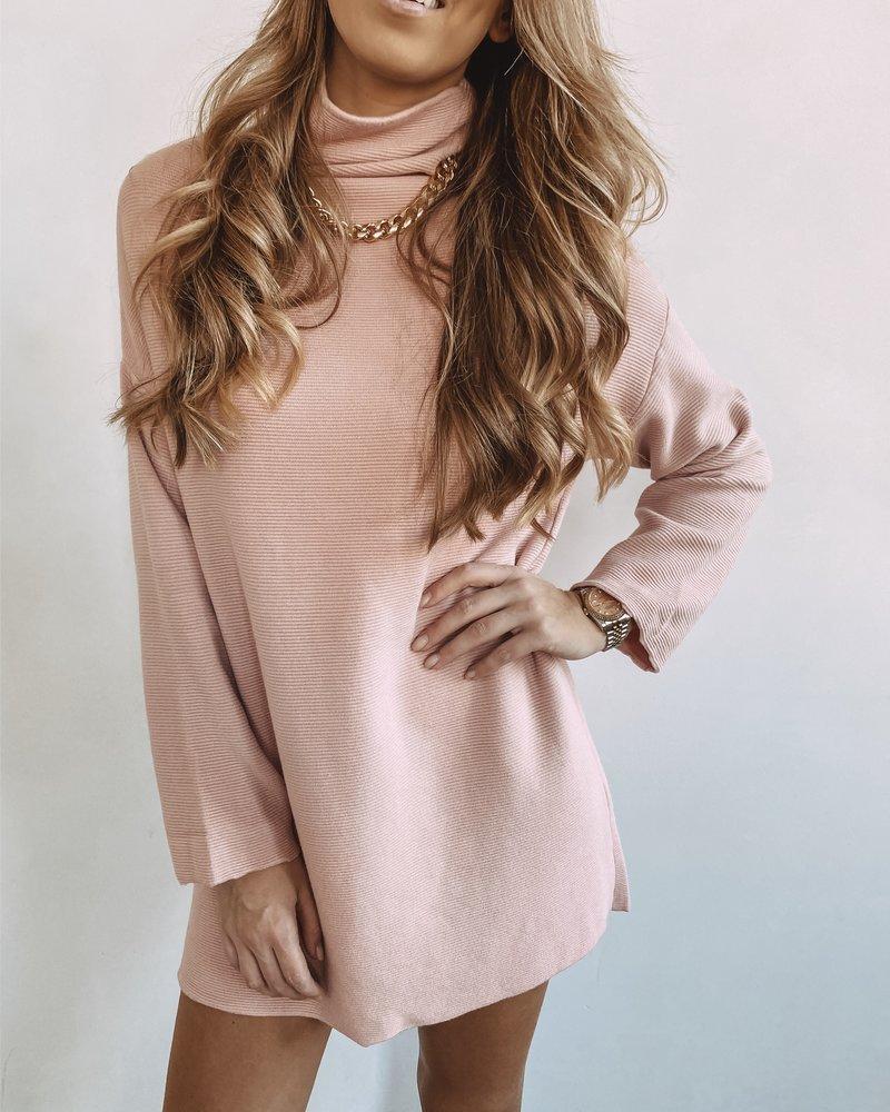 Spring Sweater Dress Rosé