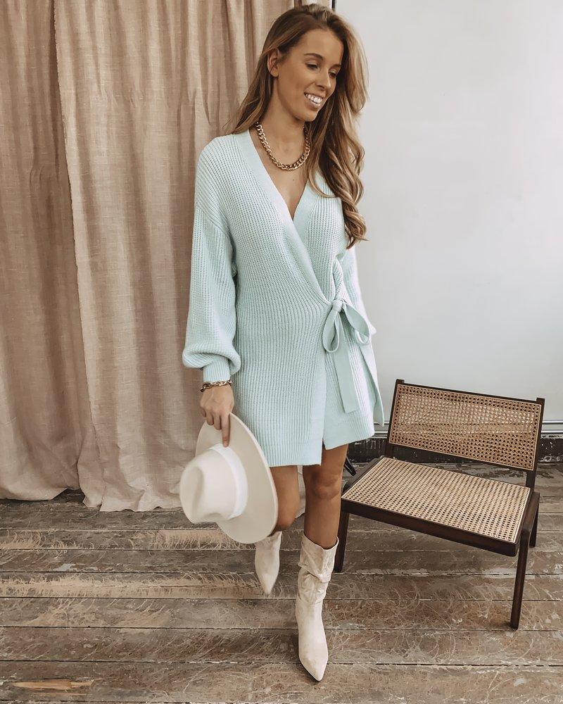 Mint Bow Cardigan/Dress