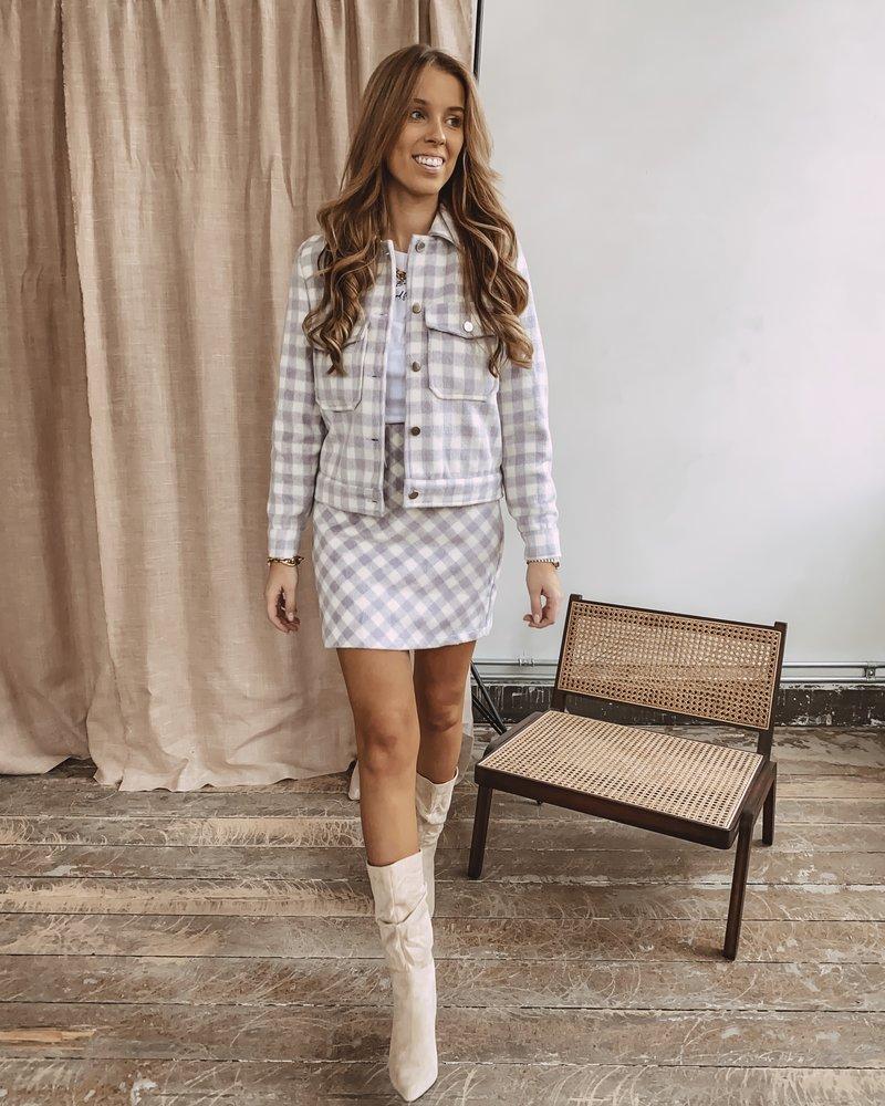 Lila Vichy Skirt