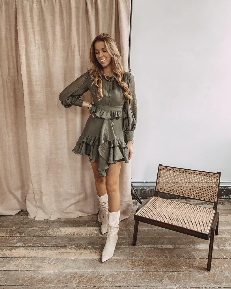 Green Army Dress