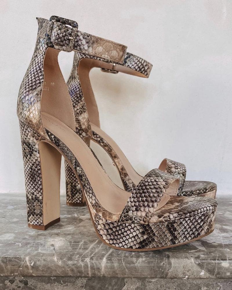 Pink Snake Heels