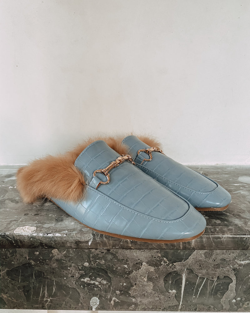 Baby blue Gucci Inspired Loafers