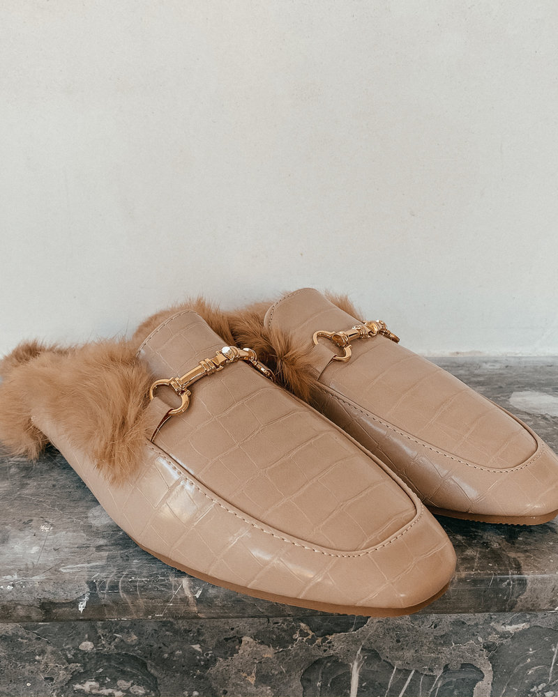 Nude Gucci Inspired Loafers
