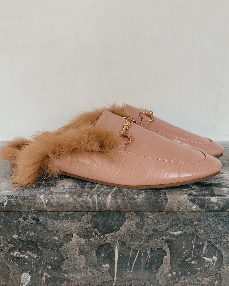Pink Gucci Inspired Loafers