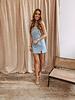 Blue Split Summer Dress