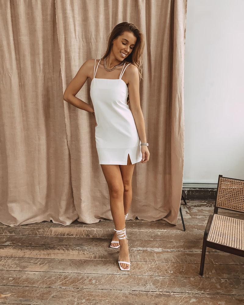 White Split Summer Dress