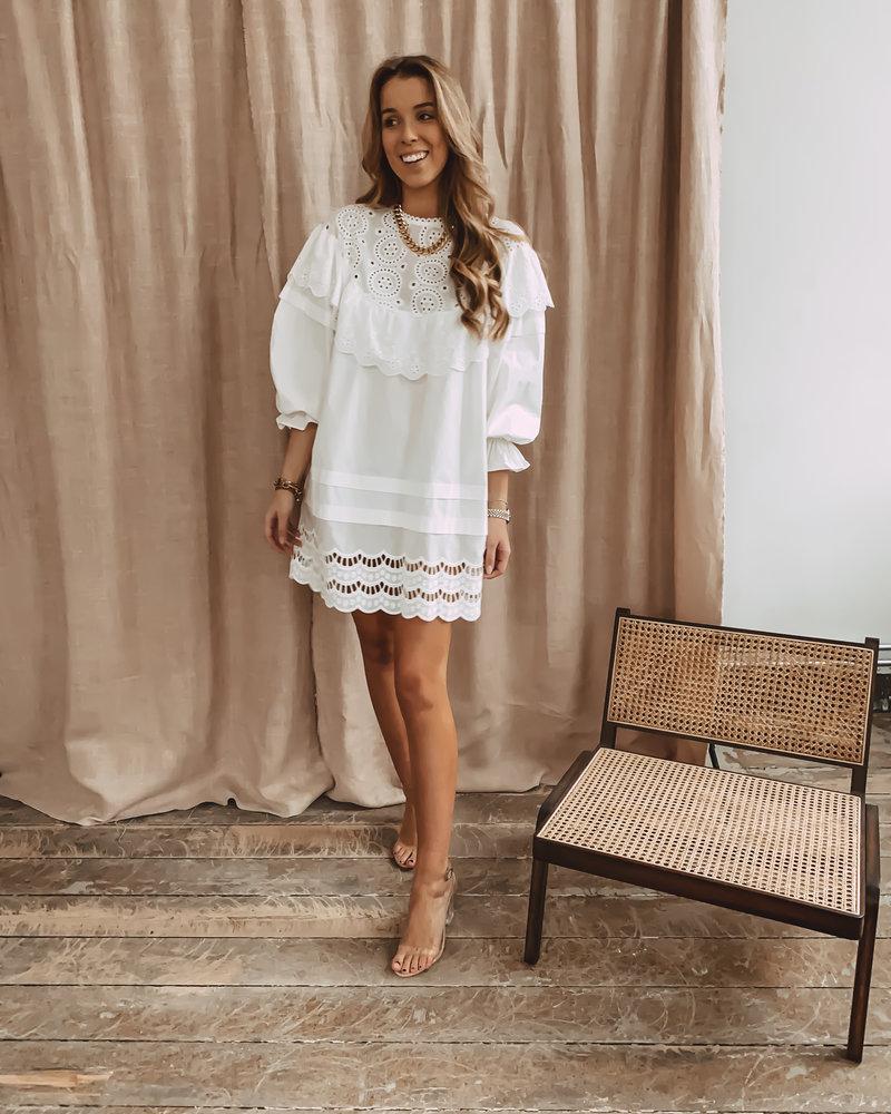 White Cotton lily Dress
