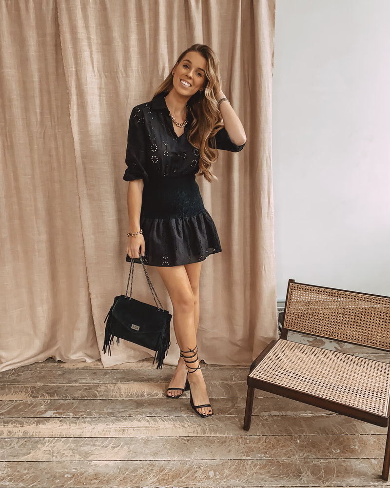 Black Crochet Summer Dress