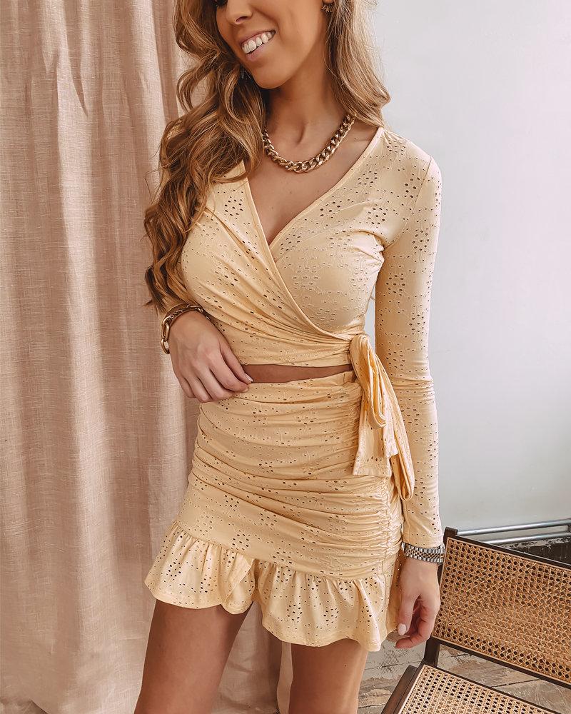 Yellow Crochet Summer Skirt