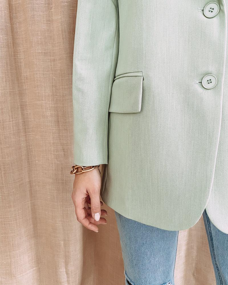 Mint Oversized Classy Blazer