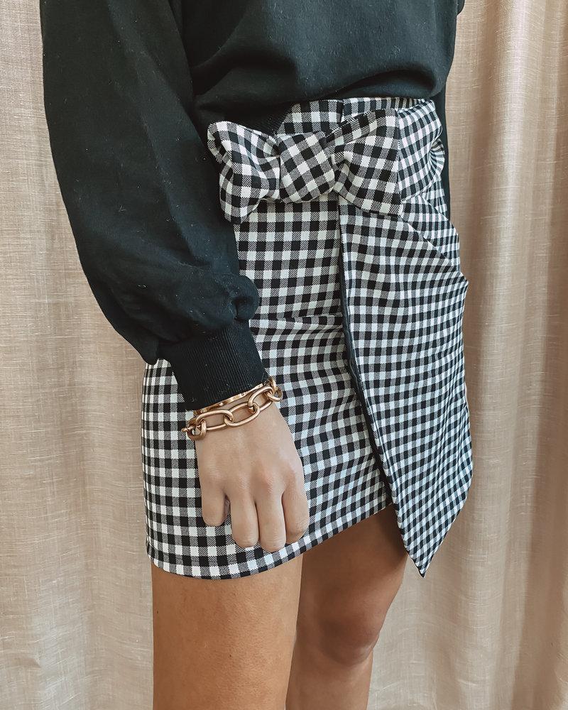 Black&White Bow Skirt