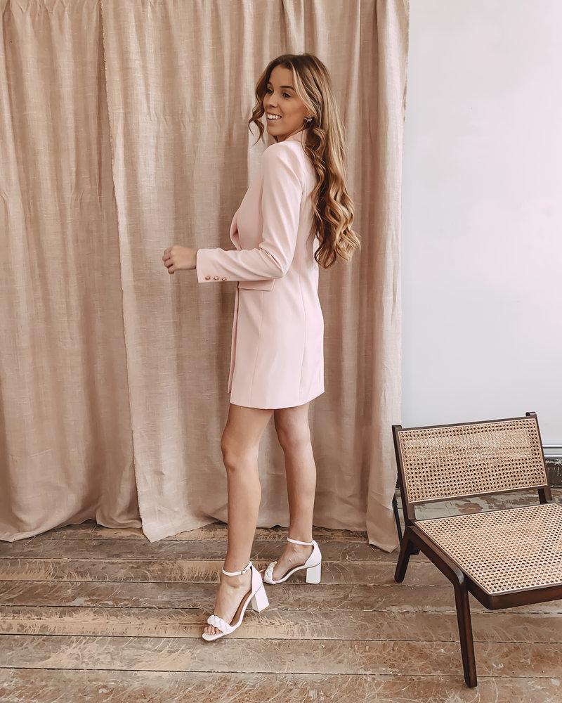 Pink Classic Blazer Dress