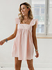 Frill Cotton Peachy Dress