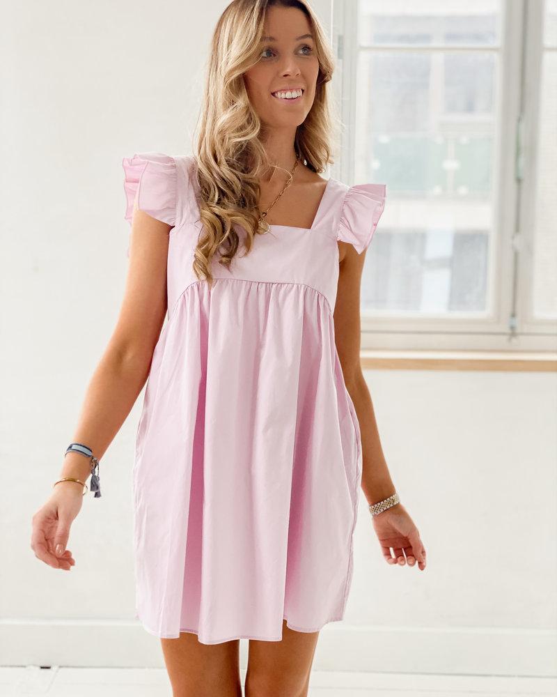 Frill Cotton Lila Dress