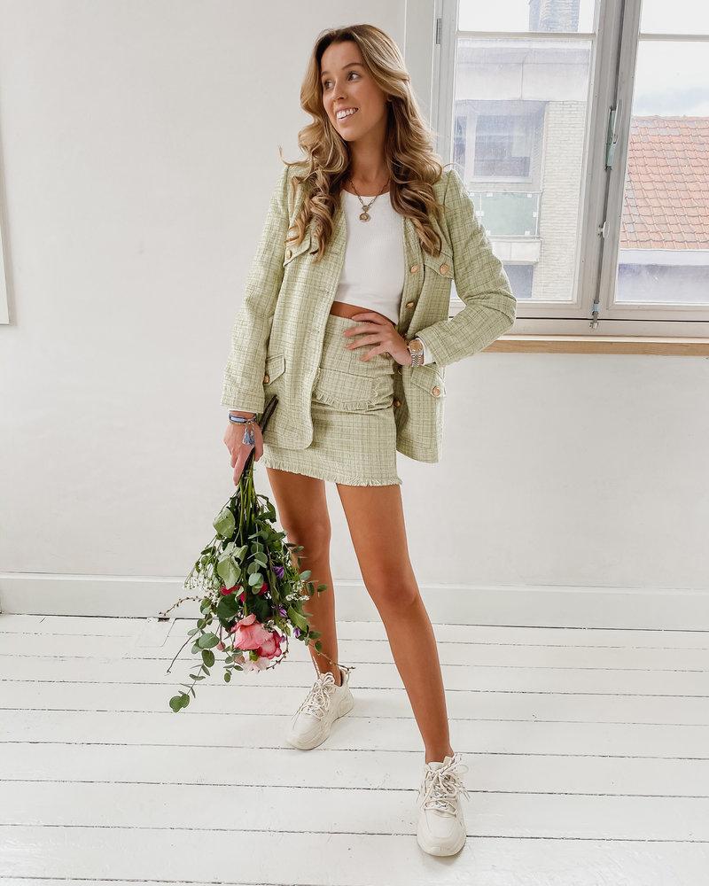 Sophia Mint Green summer Skirt