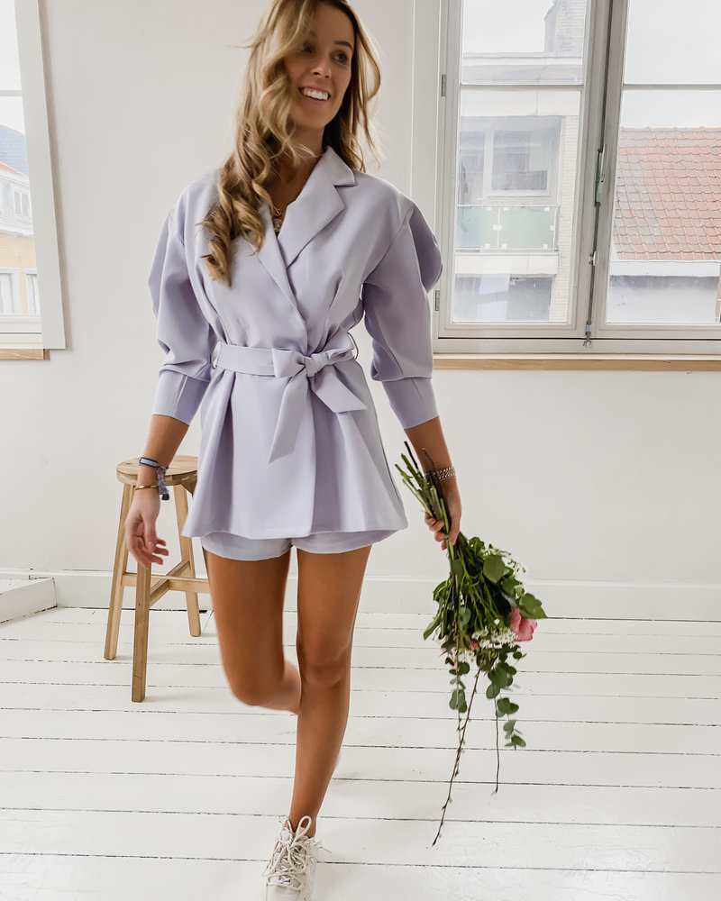 Baby Blue Bow Playsuit