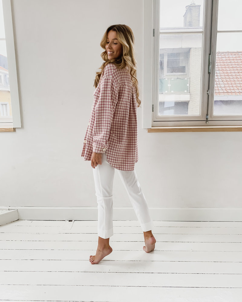 Old Pink Checked Jacket