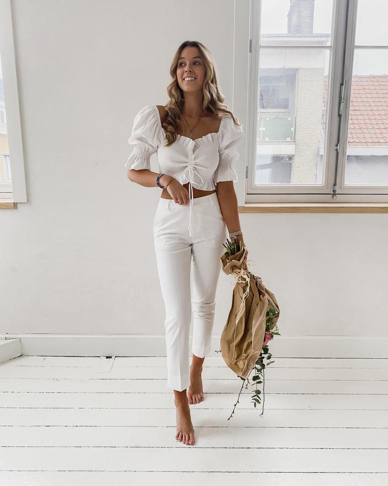 White Summer Crop Top