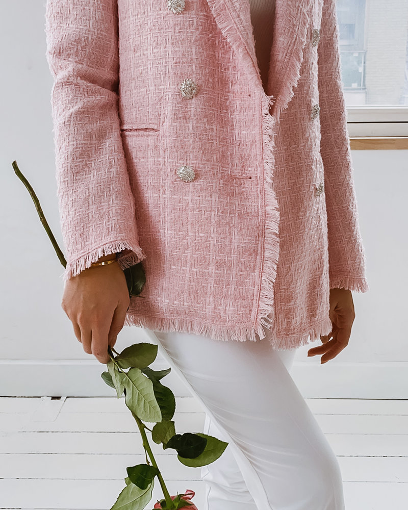 Pink Chanel inspired Jacket