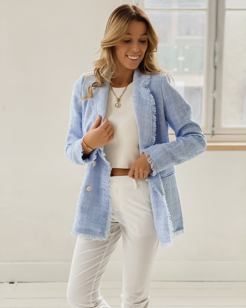 Baby Blue Chanel inspired Jacket