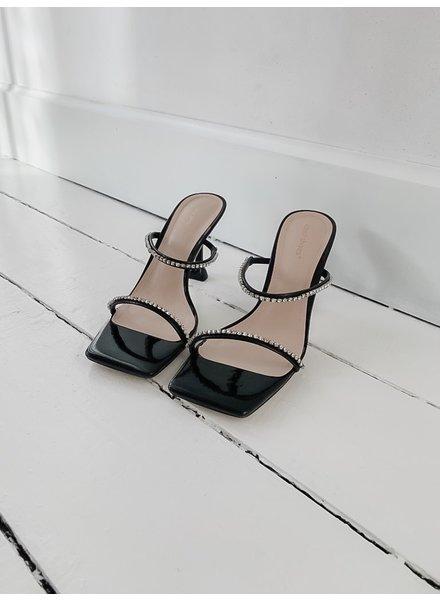 Black Cristal Heels