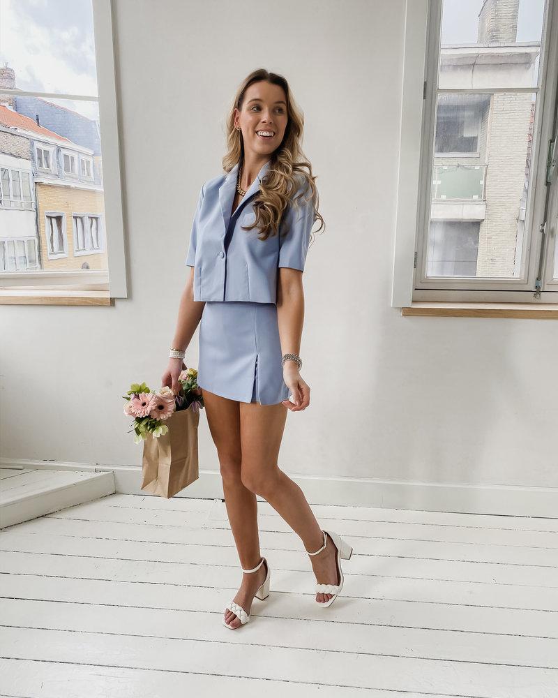 Blue Split Summer Short