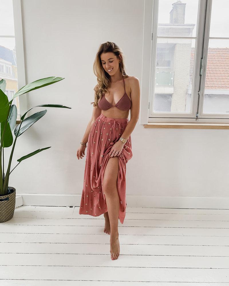 Dusty Pink Bikini Skirt