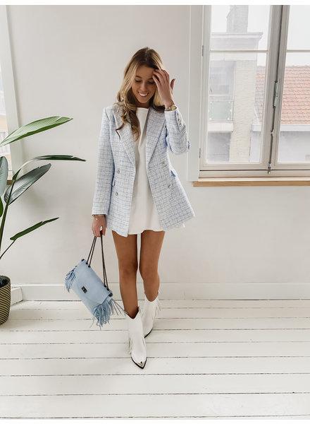 Baby Blue Tweed Blazer