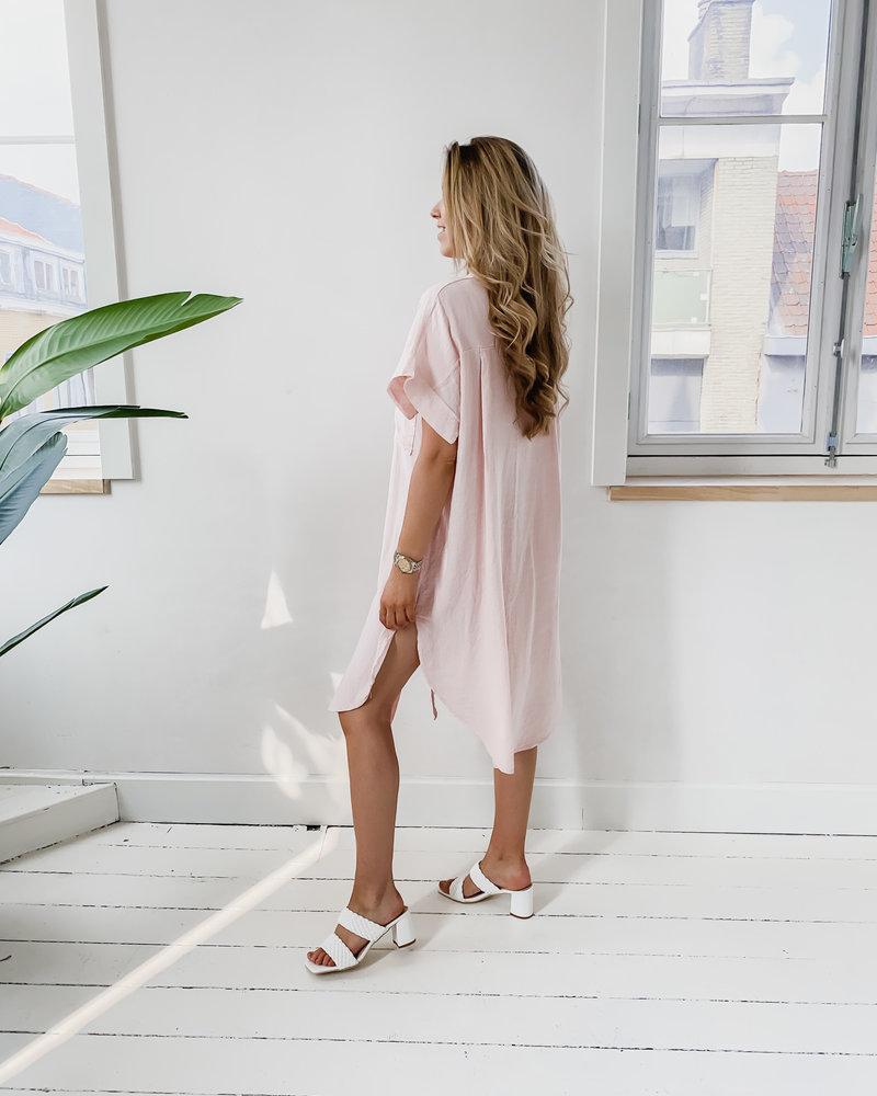Tetra Pink Button Beach Dress