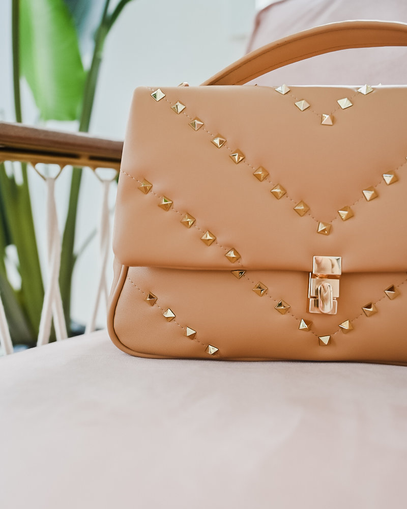 Camel Valentino Inspired Bag