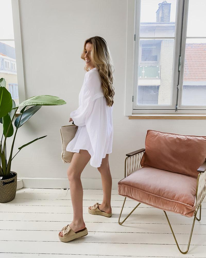 White Tetra Beach Dress