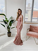 Long Pink Gown Dress