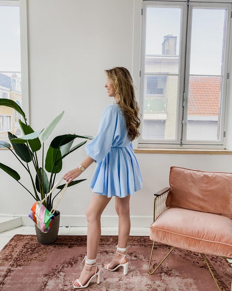 Blue Short Ibiza Dress