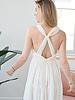 Beige Romance Open Back Dress